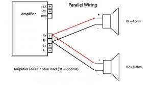 subwoofer wiring diagrams for car audio bass speakersnational auto single voice coil speakers wired in parallel