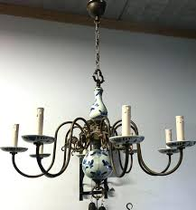 chandeliers blue delft chandelier sold to vintage brass porcelain and white