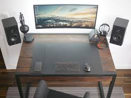 impressive office desk setup. Amazing Office Desk Setup The Minimal Floating Monitor Workspace. SetupDesk . Impressive