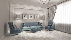 Minimalist living room with neoclassical style coffee table