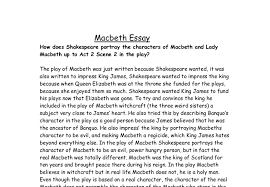 how does shakespeare portray the characters of macbeth and lady document image preview