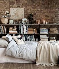 Exposed Brick Wall Bedroom Interior