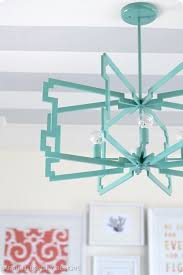 sarah m dorsey designs my talented crafting with the stars turquoise cube light fixture