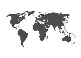 丸い飾りのある世界地図イラスト ベクター画像 無料ダウンロード