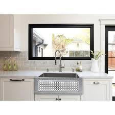 Black Apron Front Kitchen Sink C071 30 Ss Linkasink