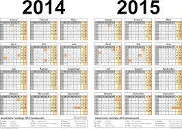 jahrskalender 2015 zweijahreskalender 2014 2015 als excel vorlagen zum ausdrucken