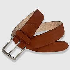 leather belt cognac color 35mm napped