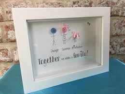 Box Picture Frame Button Head Personalised Family Picture Frame In White Box Frame
