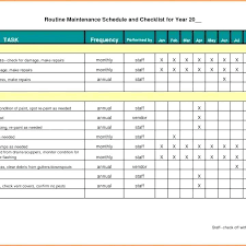 Log Templates Excel Custom Machine Maintenance Schedule Excel Template Construction Maintenance