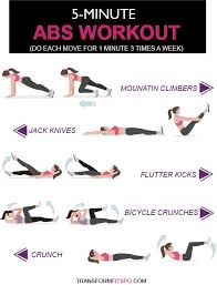 5 minute abs workout