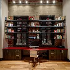 modern home office featuring glossy white. Modern Home Office Features. Exposed Brick Wall Featuring Features R Glossy White