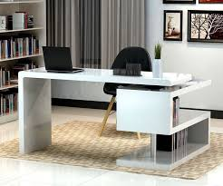 contemporary modern office furniture. Stunning Modern Home Office Desks With Unique White Glossy Desk Plus Open Bookshelf Black Chair And Chic Rug | HOME Pinterest Desks, Contemporary Furniture E