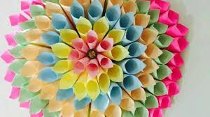 Dahlia Flower Making With Paper Diy Large Paper Dahlia Tutorial Dilkash Pk