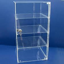 acrylic countertop locking jewelry showcase tower display case