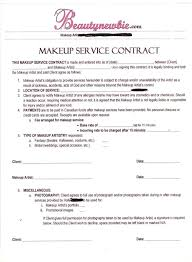 makeup service contract