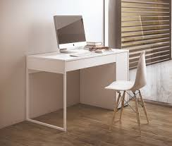 modern white office desk. temahome prado modern desk in pure white with chrome or steel legs thumbnail office