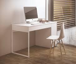 white modern office desk. TemaHome Prado, Modern Desk In Pure White With Chrome Or Steel Legs Thumbnail Office S