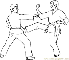 Small Picture Boxing Judo Karate Coloring Page 02 Coloring Page Free Others