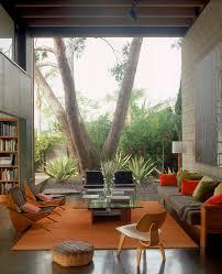 Mid-Century | Modern Design | Interiors | Orange Color | Living Room