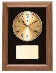 american walnut framed wall clock with