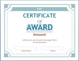 Award Certificates Templates Editable Award Certificate Template In Word 24xRocks 15