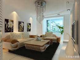 indian drawing room with pop colors modern minimalist