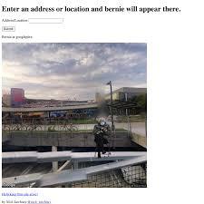 Bernie meme generator uses Google Maps ...