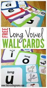 Free Long Vowel Wall Charts