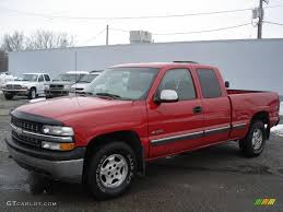 2000 Victory Red Chevrolet Silverado 1500 LS Extended Cab 4x4 ...