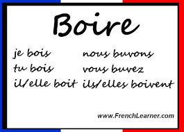 French Irregular Verbs Conjugation Chart Chapter 10 11 Boire Present Tense This Is An Irregular Verb
