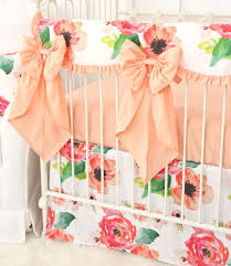 Boho Chic Floral Bumperless Crib Bedding