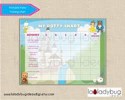 Potty Training Chart Princess Girl Printable Potty Training Etsy