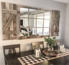 farmhouse wall decor window mirror with