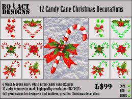 How To Decorate Candy Canes Second Life Marketplace ROACTDESIGNS 60 Candy Cane 45