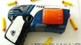 How to Make a Nerf Gun Cake Video by CreativecakesbySharon