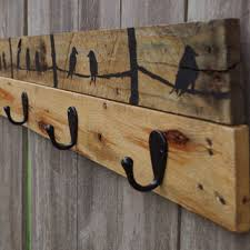 Wall Coat Hook Rack Classy Shop Rustic Coat Rack on Wanelo