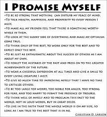 Christian Larson Quotes Best Of I Promise Myself Christian D Larson Quotes Pinteresting Quotes