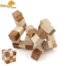 mango trees the snake puzzle classic logic 3d brain teaser puzzle wood vintage