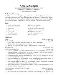 Escort Resume Classy Best Patient Escort Resumes ResumeHelp