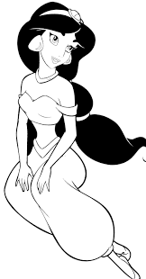 Disney Princess Jasmine Coloring Page Aladdin Pinterest Disney