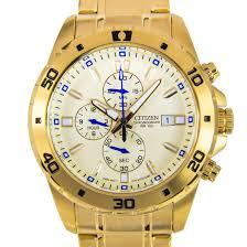 citizen men watches citizen chronograph mens gold analog watch an3502 58p