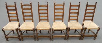 furniture rush seat dining chairs set of four oak ladderback 98079 10 from rush seat