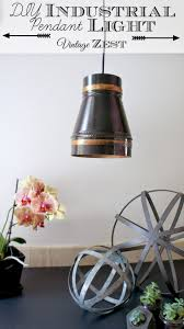 #DIY Industrial Pendant Light with #LED light!