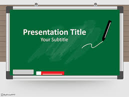 Teaching Powerpoint Backgrounds Free Green Board Powerpoint Template Download Free