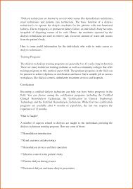 ... Ingenious Idea Dialysis Technician Resume 14 5 Objective ...