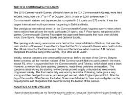 news report on the commonwealth games gcse english marked  document image preview