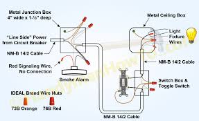 how to install a hardwired smoke alarm ac power and alarm wiring non interconnected smoke alarm on unswitched branch circuit also used for power and lighting