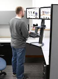 office desk standing. how to get a standing desk in your cubicle best desks for corporate cubicles office