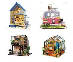 gift â doll house miniature diy handcraft 3d wooden dollhouse kit with furniture led