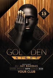 Golden Night Party Flyer
